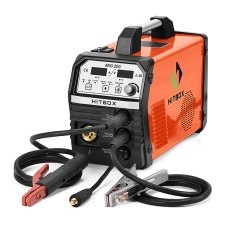 HITBOX Mig Welder New Appearance MIG200 Functional DC Gas No Gas Self-Shielded MIG 4.0mm ARC Welder MIG LIFT TIG MMA 220V