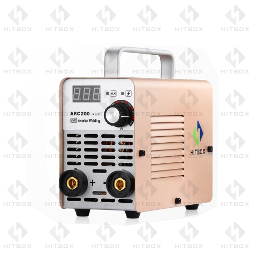 HITBOX Arc Welder 220V DC MMA ARC200 200A IGBT Inverter Welding Machine Beginner's Choice 3KG Portable Welder VRD Protection