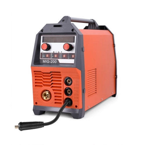 HITBOX Mig Welder Aluminum Metal Welding Machine MIG200DPP Stainless Steel Iron Welding Machine Double Pulse 2T/4T