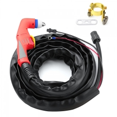 HITBOX P80 Torch Plasma Cutter Welding Cutting Gun Pilot Arc Non Touch Start 2 Pins HF Connector Completed Cable Fit CNC Machine LGK60 LGK80 LGK100