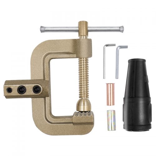 HITBOX Welding Ground Clamp 400A G Styles Earth Clamp for Tig Mig Stick Welder Machines - Solid Brass 0.75kg