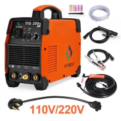 HITBOX Tig Welding Machine TIG200A 110V/220V TIG MMA Function 200A DC 2T 4T Tig Welder For Stainless Steel Carbon Steel