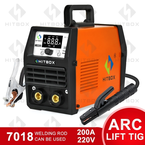 HITBOX ARC Welder HB2200 Stick LIFT TIG 2 in 1 6013 7018 rods Stick