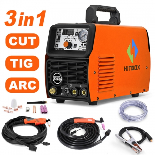 HITBOX Plasma Cutter Tig Arc Welding CT520 Digital 220V Cutting Machine 4T Easy Cut Tig Arc Functions Multi Use Latest Design